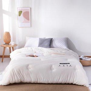 Утешители устанавливают китайский высококачественный 100% ручной работы зимние одеяла, белый, розовый, серый и синий негабаритные двойные одеяла