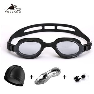 Children Swimming Goggles Suit Swimming Cap Nose Clip Earplugs Professional Silicone Silica Gel Linkage Swimming Eyewear For Men jllFYh