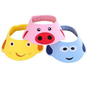 Neue Ankunft Schöne einstellbare Babymütze Kleinkind Kinder Shampoo Badedusche Kappe Waschen Haarvisierkappen für Babypflege 1017 x2