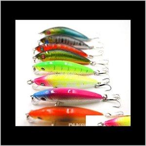 Köder Sport im Freien Drop Lieferung 2021 5 cm 3d6g Bass Crankbaits Köder mit Haken Ultra Light Laser Crankbait Tieftauchen Kunststoff