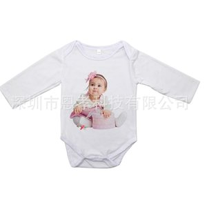2021 Thermal Transfer Printing Baby Jumpsuits Blank Heat Tranfer Long Sleeve Kids Infants One-pieces Bodysuit Autumn Winter Children's Clothes H918VFZE