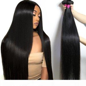 Brazilian Virgin Hair 30 32 34 36 40 Inches Straight Bundles Unprocessed Body Wave Human Hair Weaves Water Deep Wave Human Hair Extensions