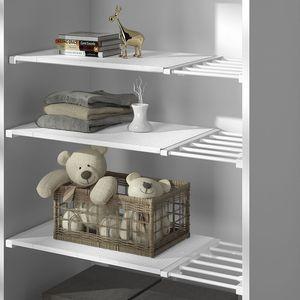Adjustable Closet Organizer Storage Shelf Wall Mounted Kitchen Rack Space Saving Wardrobe Decorative Shelves Cabinet Holders 520 S2