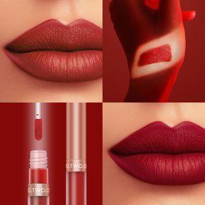 O.TWO.O Liquid Lipstick Matte Lip Gloss Cosmetic Lightweight Glaze Long Lasting Tint Waterproof 12 Color Lips Makeup