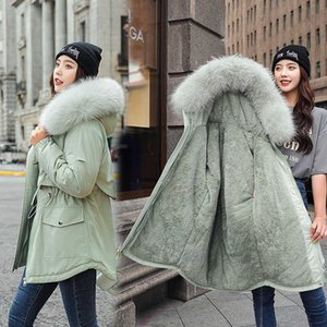 men's and womens ClothingReal Shot 2020 Padded Down Cotton Jacket Short Winter Coat Women's Waist Loose and Thickened Style Overcome