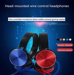 XB450 headset 4D HIFI 3.5MM Wired Foldable Headphones With Mic Over Ear Headsets Surround Music Stereo Earphone For phone Player Retractable Headband new
