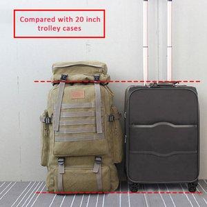 Bolsas de lona bolsa 60l mochila tática grande militar camping caminhada rucksack exército mochila tatica viajar molle