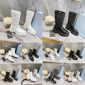 Designer Women Boots Rois Ankle Martin Boot Genuine Leather Shoes P Cloudbust Thunder Military Inspired Combat Mid Top Triple Cowhide Winter Motorcycle Shoe Box