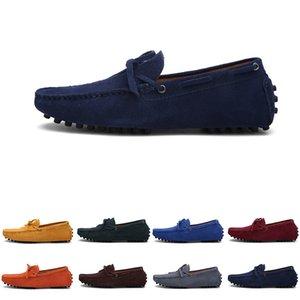 남성 캐주얼 신발 Espadrilles 트리플 블랙 네이비 브라운 와인 레드 그린 카키 오렌지 남성 S 야외 조깅 삼십 워킹