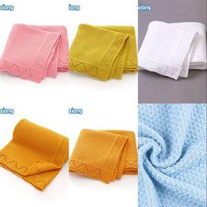 Baby Blankets Knitted Newborn Soft Warm Swaddle Wrap Sleep Sacks 100*80cm Kids Bath Towels Children Outdoor Stroller Accessories 847 X2