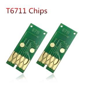 Ink Cartridges 2X T6711 L1455 Maintenance Box Chip For WF 7610 7620 7720 7110 7210 7510 7615 7710 7715 3010 3520 3530 3540 3620 3640
