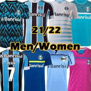 21/22 Gremio futebol jerseys guilda giuliano 2021 Ramiro Geromel Luan Maicon Fernandinho Grêmio Jersey Homens Mulheres Futebol Camisas Tailândia Top