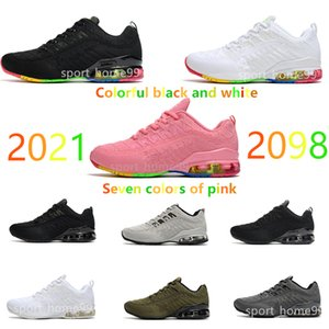 2021 pattern gym Running shoes Mens Women sneakers 2098 Black and white pink Training Flying line series 36-46