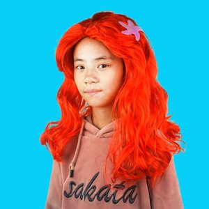 Mermaid Up Wig with Starfish Head Cover Children Role Play Accessories