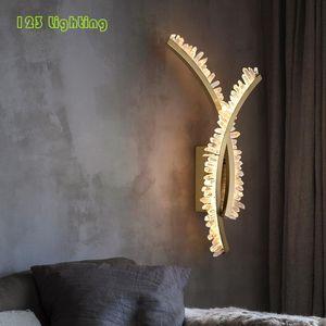 Wall Lamps Novelty Crystal LED Lamp Livingroom Bedside TV Backdrop Sconce Modern Indoor Art Deco Lighting Fixtures Gold Metal