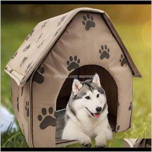 Kennel Pens Forniture Casa Giardino Design Pieghevole Design Pieghevole Pieghevole Piccolo Impronta PET Bed Tenda Cat Kennel Travel Dog Accessory Drop del