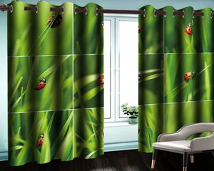 Beautiful Seven Star Ladybug Curtain Decoration Interior Living Room Bedroom Kitchen Window Blackout Curtains