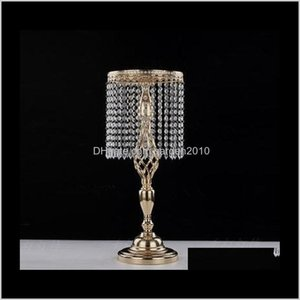 Holders 70Cm Rhinestone Candelabra Party Elegant Candle Holder Pretty Table Centerpiece Vase Stand Crystal Candlestick Wedding Decor Y 24Ok9