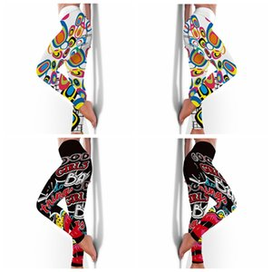 High Elasticity Fitness Pants Womens Sweat-Absorbent Yoga Leggings Fashion Printing Tights Sweatpants for Women