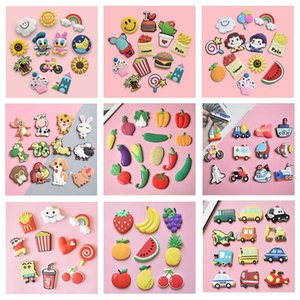 Kinds of Style Funny Fridge Magnets Stickers Cover Food Grade Soft PVC Refrigerator Cartoon 3D Magnet Sticker Animal Vegetables Fruits Vehicle For Kids Adults