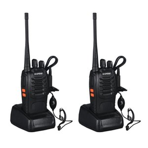 Walkie Talkie 2pcs VHF UHF Baofeng BF-888S Portable FM Transceiver Rechargeable In Two Senses 5W 2-way Ham Radio Comunicador