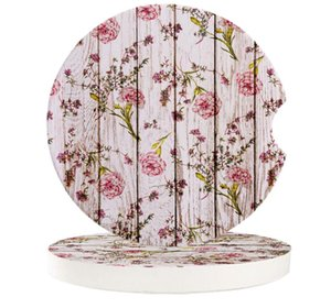 Table Runner Carnations Flowers Wood Car Coasters Set Heat Resistant Placemats Drink Mat Tea Coffee Cup Pad Waterproof Creative Decor