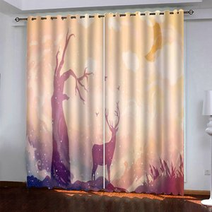 Creativity Blackout Curtains For Living room Bedroom 2 panels Drapes Custom Window Kitchen Curtain