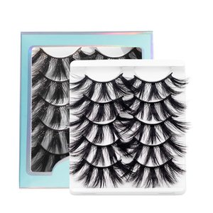 5D Mink Eyelashes Fluffy Long Lasting 5 Pairs Lashes Natural Dramatic Volume Extension Thick 3D False Eyelash 0799