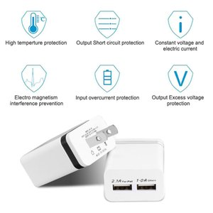 Cost-effective Wall Charger Travel Adapter Universal Smart Phones Metal Dual USB For Samsung S8 S7 2 Ports US EU Version No package