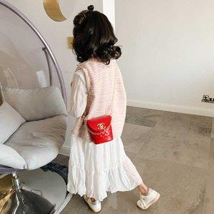 2021 Christmas Candy Colors Children's Messenger Bag Fashion Korean Kids Grils Mini Princess Chain Bags Portable Wallet Crossbody Pack Handbag G96FIRE