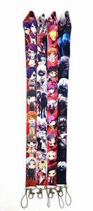 Wholesale 20pcs Cartoon Anime Japan Tokyo Ghoul lanyard strap Key Chain ID card hang rope Sling Neck Pendant boy girl Gifts