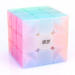 Qiyi Warrior W Jelly 3x3x3 Magic Cube 3x3 Speed ​​Cube Stickerless 3x3x3 لغز Cubo Magico
