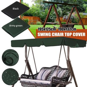 Waterproof Swing Seat Chair Top Cover Outdoor Canopy Replacement Garden Courtyard Outdoor Swing Cover Tent Chair Shade Sail