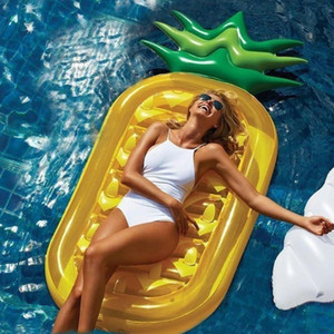Summer Inflatable Floating Row Swimming Pool Water Hammock Pineapple Air Mattresses Bed Beach Sports Lounger Chair Mat Floats & Tubes