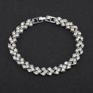 Charm Armband europäisch und amerikanisch Einfache römische Kristall Set voller Diamant Nationaler Schmuck