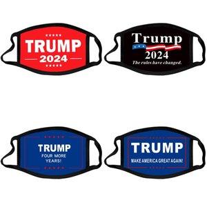 Trump 2024 Maschera viso Elezione presidenziale Maga Maga Cotton Masks Joe Biden Lavabile Traspibile Black Color Letters Print Adult FaceMask 756 T2