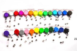 27 Colors Badge Reel Retractable Ski Pass ID Card Badge Holder Key Chain Reels Anti-Lost Clip Office & School Supplies HWD11279