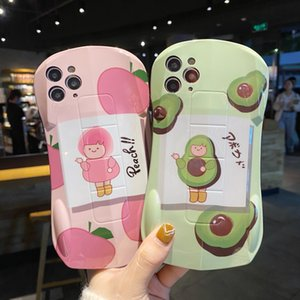 Cartoon avocados pattern sports car IMD phone cases for iPhone 12 11 pro promax X XS Max 7 8 Plus