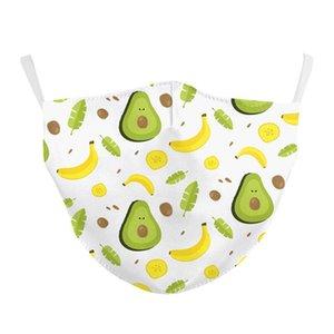 2020 new avocado star series cartoon mask adjustable ear band filter cotton children's mask