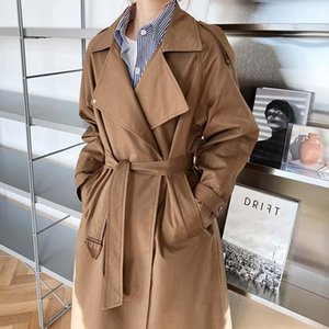 Women's Trench Coats Spring And Autumn Temperament British Mid-Length Over-The-Knee Windbreaker Women Loose Korean Coat