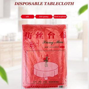 Disposable Table Covers Imitation Silk Solid Color Tablecloth Birthday Party Wedding Christmas Cover Wipe Picnic Desk Cloth Deco