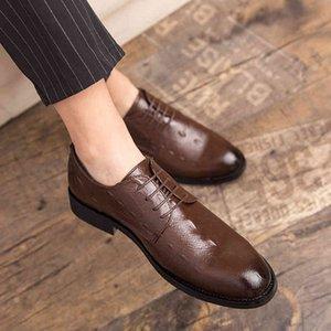 Dress Shoes Arrival Mens shoes Casual Business Office Brogue Breathable Leather outdoor Fashion Flats Platform Oxfords men AJ80