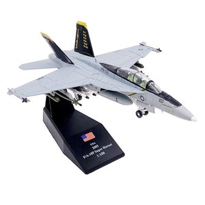 1 100 FA-18F Alloy Fighter Aircraft Airplane Model with Stand Base Plane Figure Home Office Living Room Decor