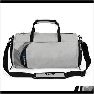Yoga Bags Gym Bag Dry And Wet Separation Cylinder Sports Backpack Outdoor Shoulder Rucksack Hand Messenger Pack Travel Tfjdm 7Pmud