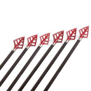 6 uds puntas abiertas de flecha 100gn-125gn puntas flechas para tiro con arco caza arco compuesto y Ballesta y retroceso cabezas de flecha
