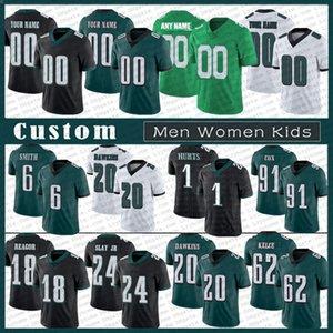 1 Jalen Hurts 6 DeVonta Smith Men Women Kids Custom Football Jersey 7 Michael Vick 26 Miles Sanders 86 Zach Ertz 20 Brian Dawkins 91 Cox PhiladelphiaEaglesReagor