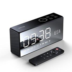 Беспроводной Bluetooth-динамик зеркало 3D цифровой звуковой громкоговоритель сигнал будильник радио басовые динамики с дистанционным управлением портативный