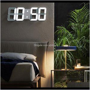Display Led Alarm Watch Usb Charge Electronic Digital Clocks Wall Horloge 3D Dijital Saat Home Decoration Office Table Desk Clock R6Qd Nlz4W