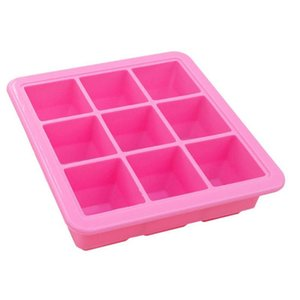 Cubes Silicone Mold Baby Storage Fruit Breast Milk Freezer Ice Cube Maker Box Container Candy Bar Bottles & Jars