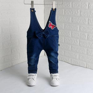 Baby Girls Overalls Soft Denim Trousers Jumpsuit Kids Children Girl Cowboy Long Pants Jeans Overalls Dungarees 1-4Y